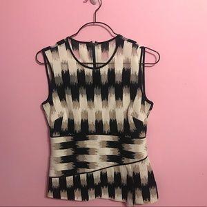 BCBG Maxazria short sleeve blouse